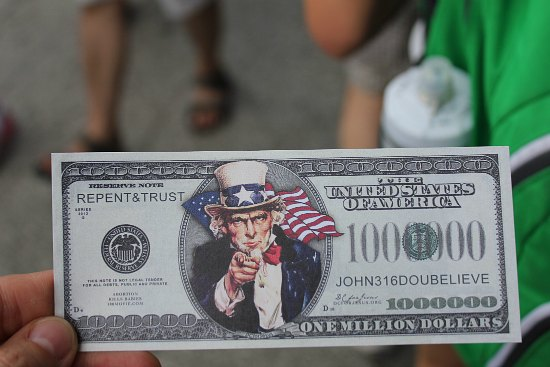 repent and trust million dollar bill