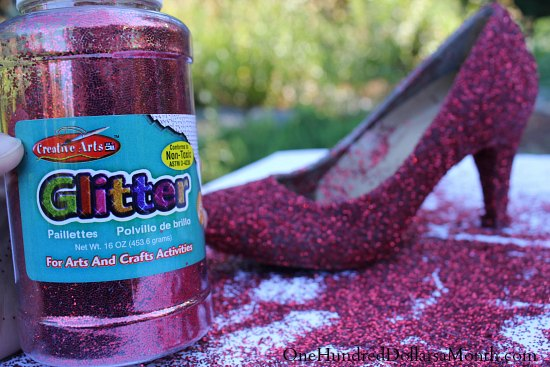 How to Make Ruby Red Slippers at the Last Minute