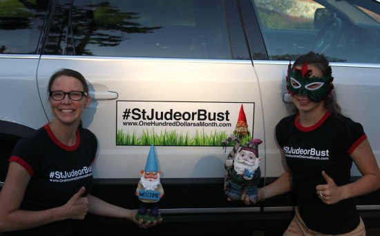 #StJudeorBust Mavis Butterfield Gnomes