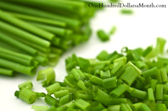 chopped chives