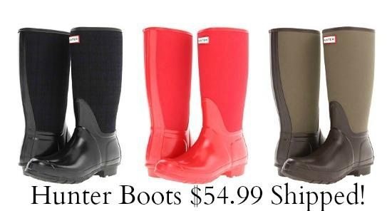 hunter-boots-pink-brown-black