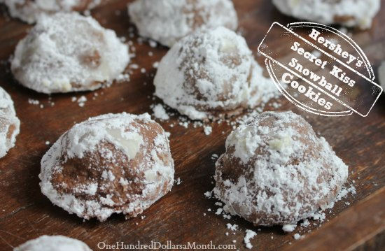 Hershey's Secret Kiss Snowball Cookies