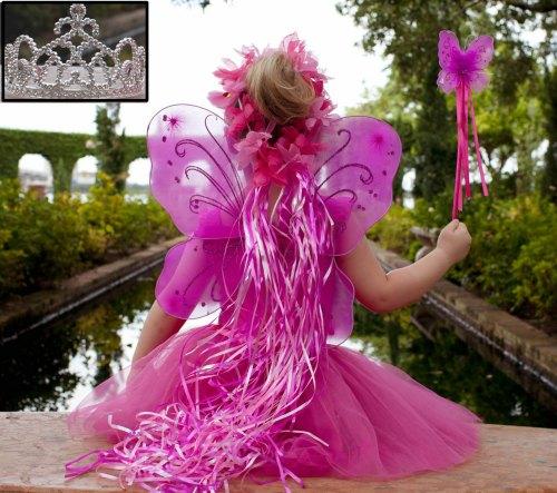 Pink & Hot Pink 5 Piece Fairy Princess Costume Set