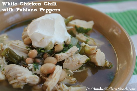 White Chicken Chili with Poblano Peppers