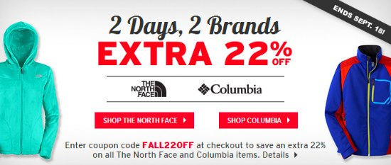 the north face coupon