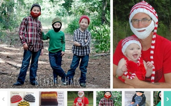 bearded hats for kids and adults