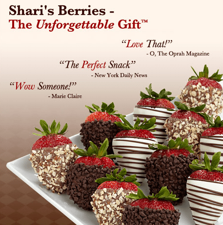 A GiftRocket gift card with suggested use at Shari's Berries is a delightful digital cash present for friends, family, and co-workers. It's the perfect last minute online gift for a birthday, graduation, wedding, holiday, and more. See how it works.2/5.