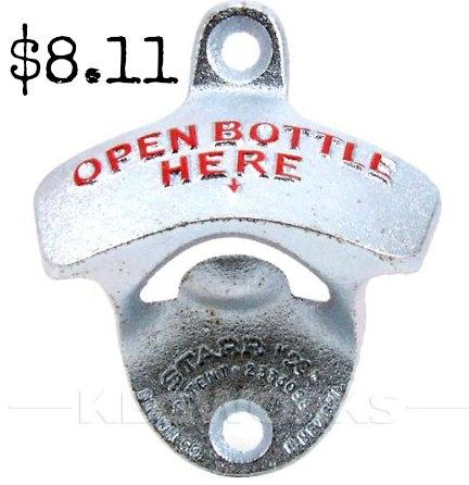 Open Bottle Here Wall Mount Bottle Opener