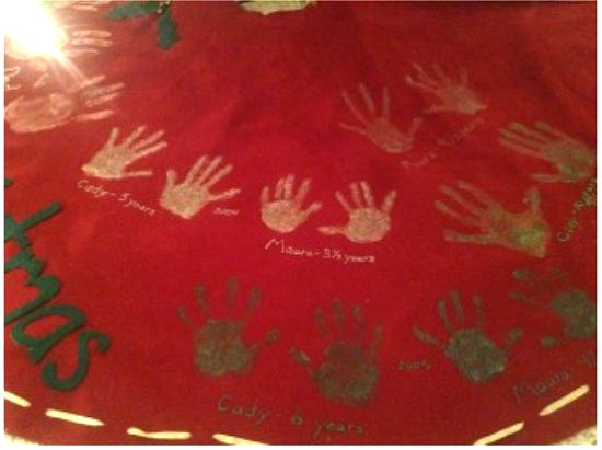 handprint tree skirt