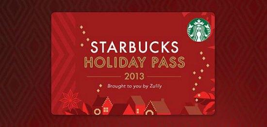 starbucks holiday pass zulily