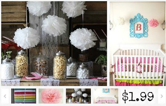 tissue paper party poms