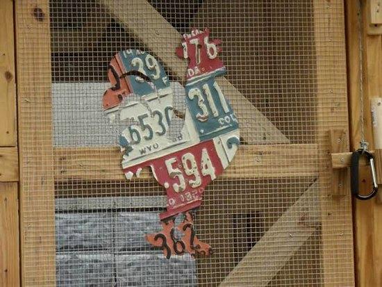 old licence plate frames