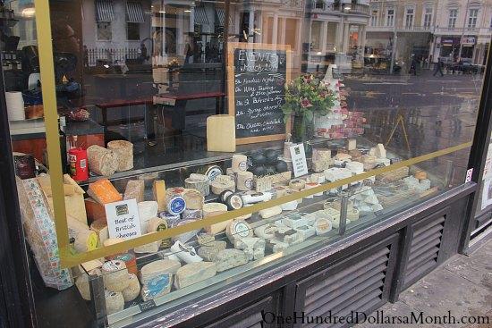 cheese shop window