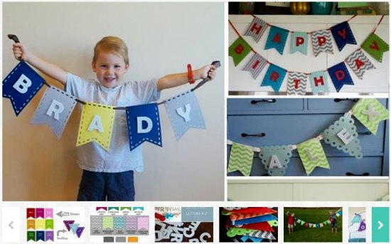 diy bunting for banners