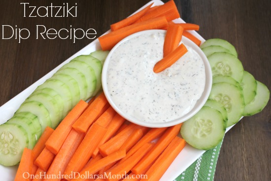 Tzatziki Dip Recipe with Greek Yogurt, Cucumber and Dill