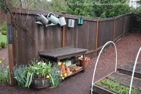 potting bench spring