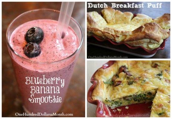 weekly menu plan breakfast ideas