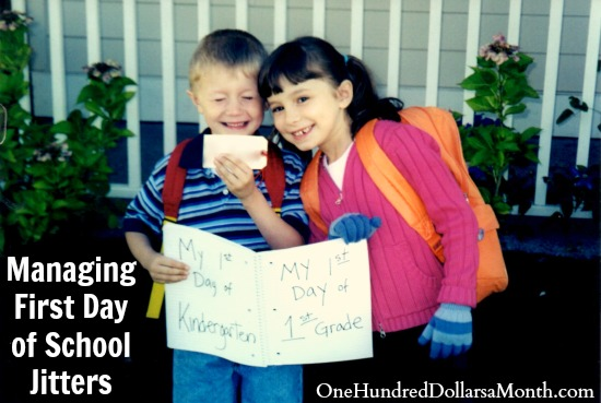 Managing First Day of School Jitters