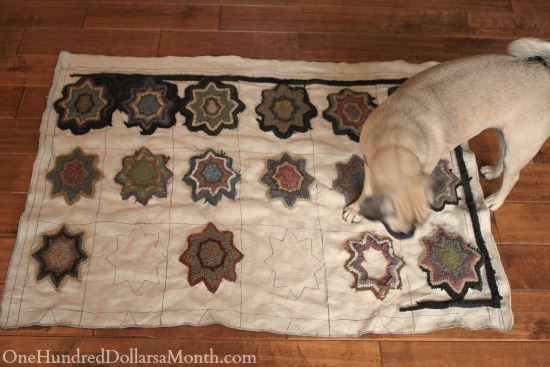 primitive hooked rug mavis butterfield