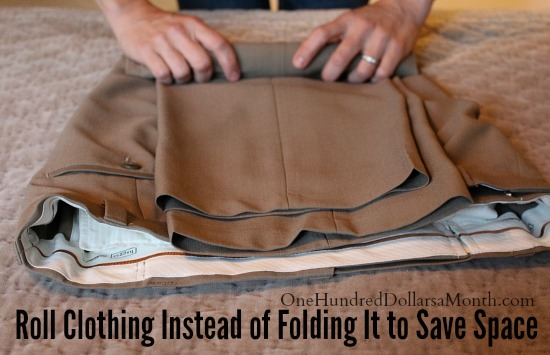 Roll or Fold Your Clothes When Packing
