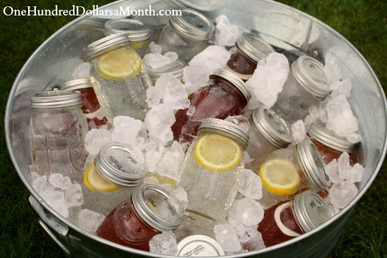 Clever Way to Store Cold Drinks - Canning Jars