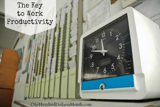 The Key to Work Productivity