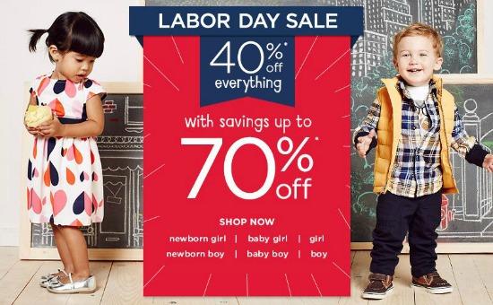 gymboree labor day sale