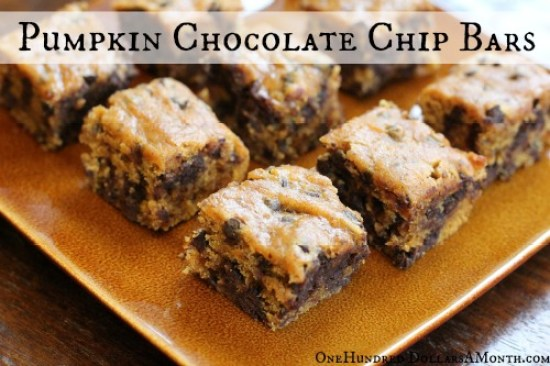 Easy-Vegan-Recipes-Pumpkin-Chocolate-Chip-Bars