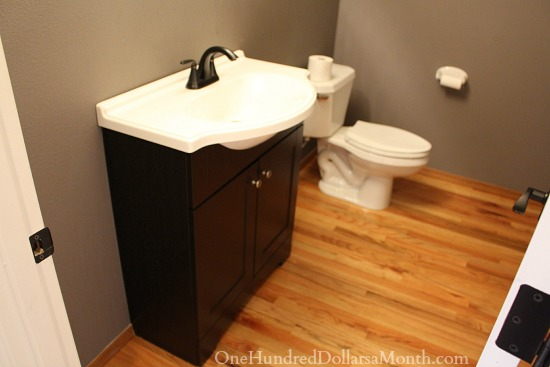 powder room remodel part one - one hundred dollars a month