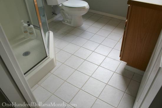 old tile floor