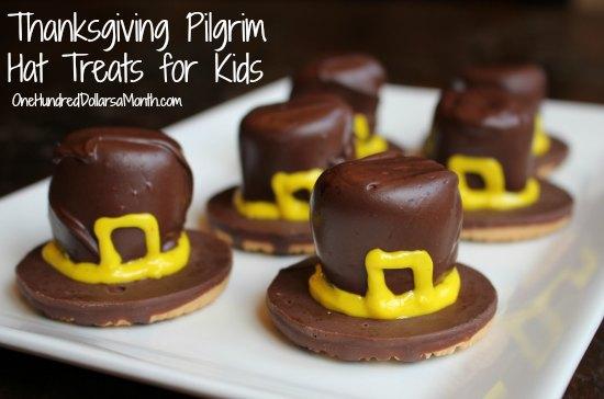 Thanksgiving-Pilgrim-Hat-Treats-for-Kids