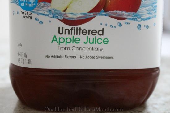 unfiltered apple juice