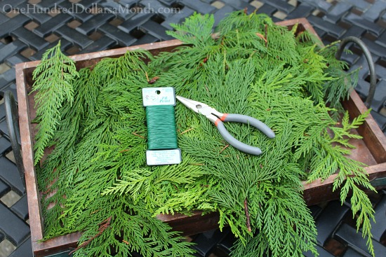 How to Make a Cedar Christmas Garland