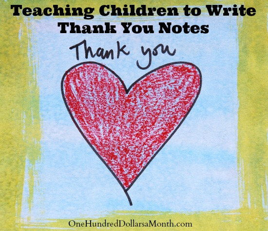 Teaching Children to Write Thank You Notes