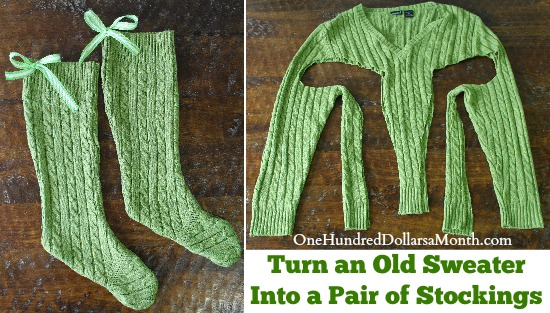 Turn an Old Sweater Into a Stocking