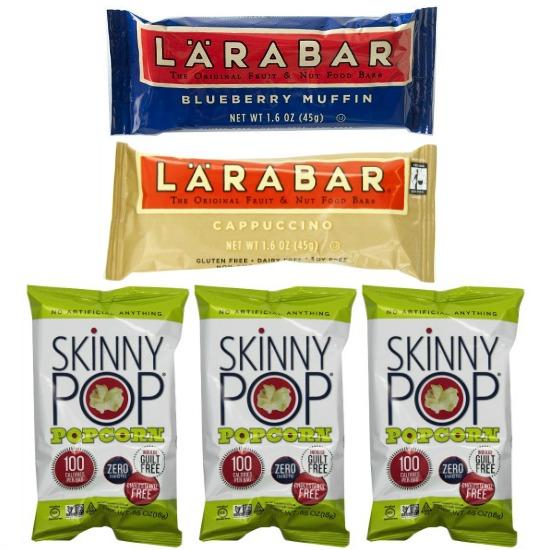 skinny pop popcorn larabar