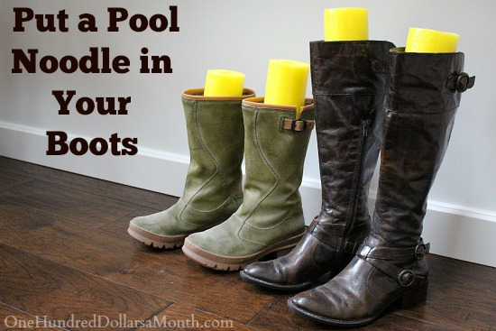 Closet Organization Tip - Noodle in Boots