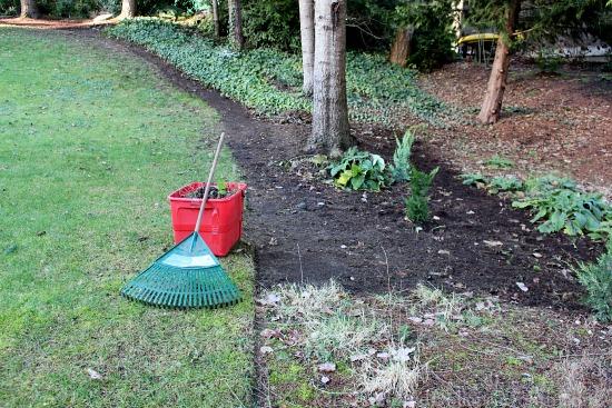 side garden pulling weeds