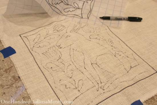 rug hooking bunny pattern