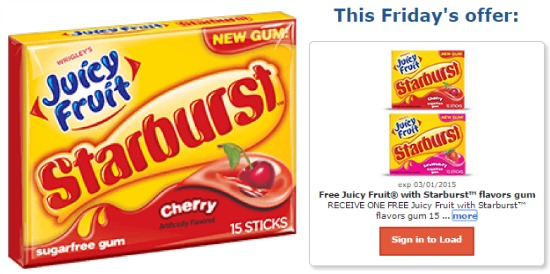 starburst gum coupon