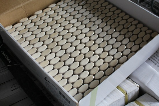 penny oval backslash tile