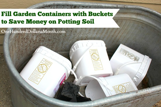 Fill Garden Containers with Buckets