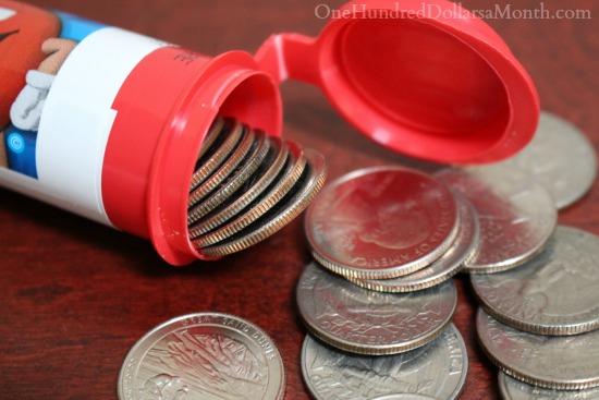 Upcycled Quarter Holders