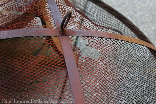 rusted fire pit top