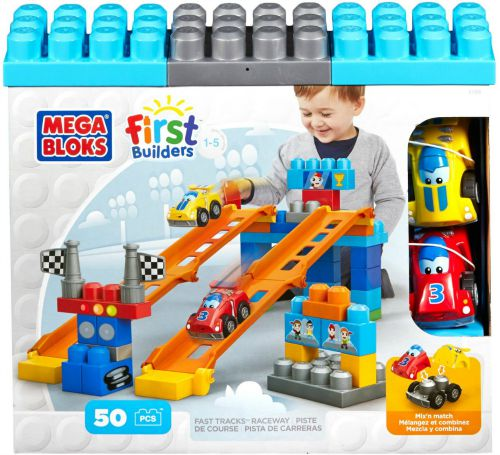 Mega Bloks First Builders Fast Tracks Raceway 50pcs