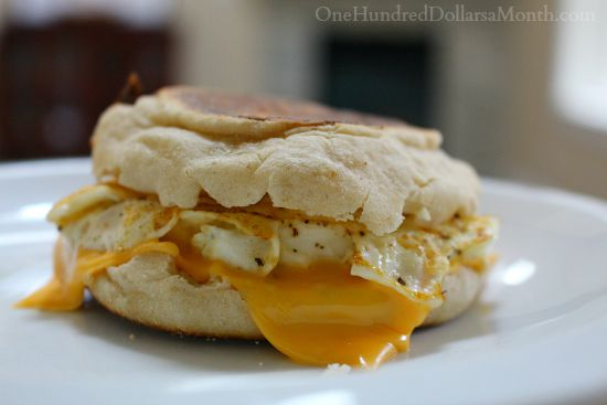 english muffin with egg and cheese