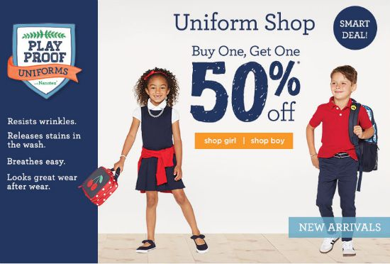 gymboree uniform shop