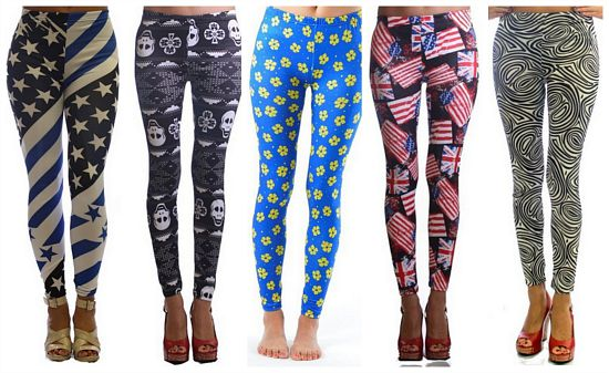 printed skull leggings