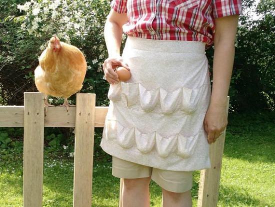 egg gathering apron