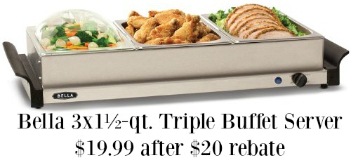 Bella Triple Buffet Server